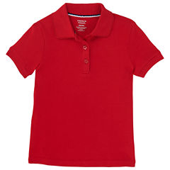French Toast Short Sleeve Polo Shirt - Big Kid Girls Plus