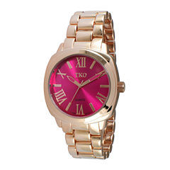 TKO ORLOGI Womens Pink Dial Boyfriend Bracelet Watch