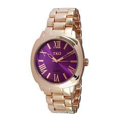 TKO ORLOGI Womens Purple Dial Boyfriend Bracelet Watch