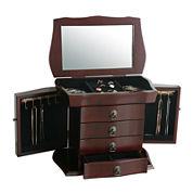 Kathy Ireland Merlot Jewelry Box