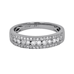 LIMITED QUANTITIES 1/2 CT. T.W. Diamond 14K White Gold Triple-Row Band