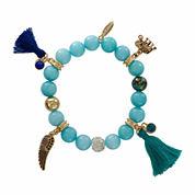 Natasha Bead & Charm Gold-Tone Stretch Bracelet