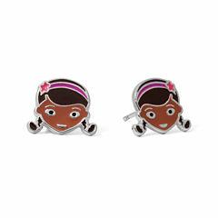 Disney Sterling Silver Enamel Stud Earrings