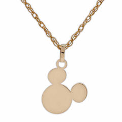 Disney 10K Yellow Gold Mickey Head Children's Pendant Necklace