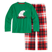 North Pole Trading Co Family Pajamas Boys 2-pc. Long Sleeve Kids Pajama Set-Big Kid