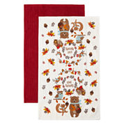 JCPenney Home™ Give Thanks Set of 2 Kitchen Towels