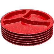 Zak Designs® Confetti Melamine Set of 6 Divided Plates
