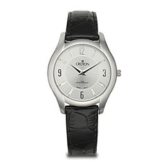 Croton Womens Black Leather Strap Watch