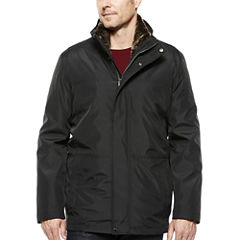 Claiborne® Systems Car Coat with Faux Fur Lining