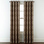 Studio™ Abbot Chenille Grommet-Top Curtain Panel
