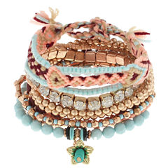 Decree Womens 11-pc. Green Bracelet Set
