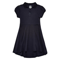 IZOD® Cap-Sleeve High-Low Polo Dress - Girls 7-16