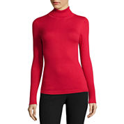 Worthington® Long-Sleeve Turtleneck Sweater - Tall