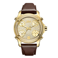 JBW 18k Gold-Plated Stainless-Steel Jet Setter Mens Gold Tone Strap Watch-J6354a
