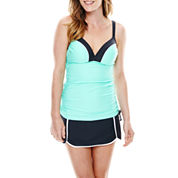 Free Country® Double-Strap Side-Adjustable Tankini Swim Top or Skort