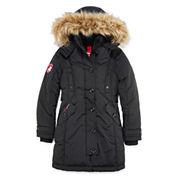 Canada Weather Gear Black Stadium Parka - Girls 7-16