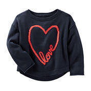 OshKosh B'gosh® Long-Sleeve Navy Sweatshirt - Toddler Girls 2t-5t