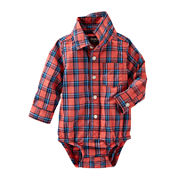 OshKosh B'gosh® Long-Sleeve Plaid Bodysuit - Baby Boys 3m-24m