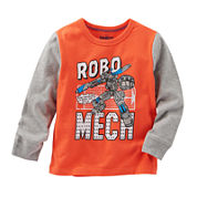 Oshkosh B'gosh® Raglan-Sleeve Robot Knit Shirt - Baby Boys 3m-24m