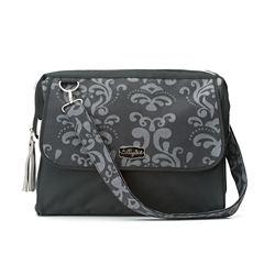 LillyBit Gray Damask Diaper Bag