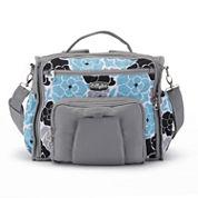 LillyBit Blue Floral Messenger Bag Diaper Bag