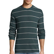 St. John's Bay® Long-Sleeve Striped Thermal Shirt