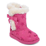 Okie Dokie® Kuala Girls Fur Boots - Toddler