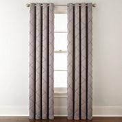 Liz Claiborne® Kathryn Diamond Pleated Grommet-Top Curtain Panel