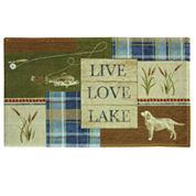 Bacova Guild Live Love Lake Bath Rug