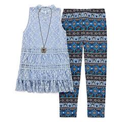 Knit Works Legging Set-Big Kid Girls