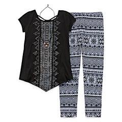 Knit Works 3-pc. Legging Set-Big Kid Girls
