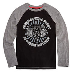 Arizona Long Sleeve Graphic Raglan Tee Boys 8-20 and Husky