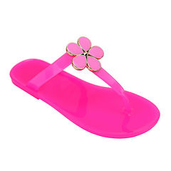 OMGirl Daisy Girls Floral Jelly Sandals - Little Kids