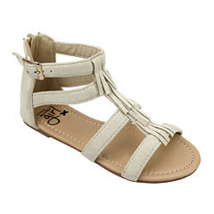 OMGirl Miya Multi-Strap Fringe Girls Sandals - Little Kids