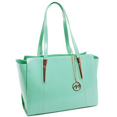 MCKLEIN ALDORA LEATHER LADIES' TOTE WITH TABLET POCKET