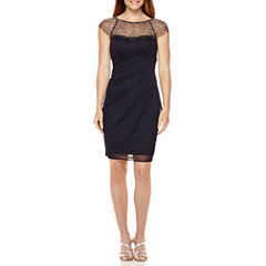 DJ Jazz Beaded Neck Sheath Dress