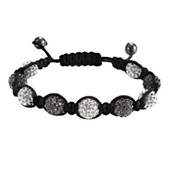 Men's Hematite & Black Crystal Bracelet