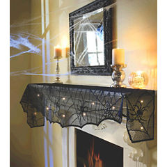 Light Up Midnight Lace Mesh Mantle Scarf