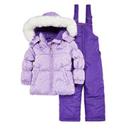 WeatherProof Heart Dot Lavender 2-pc. Snowsuit Set - Preschool Girls 4-6x