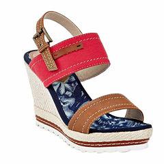 Henry Ferrera Franca Womens Wedge Sandals