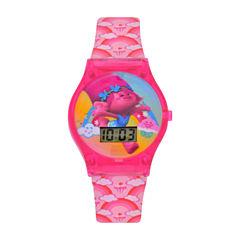 Girls Pink Strap Watch-Tro4042jc
