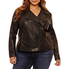 Boutique + Midweight Motorcycle Jacket-Plus