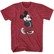 Disney Collection Rocker Mickey Mouse Crewneck Tee