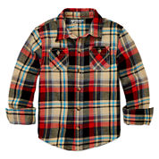 Arizona Long-Sleeve Flannel Shirt - Toddler Boys 2t-5t