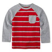 Okie Dokie® Long-Sleeve Striped Raglan Tee - Toddler Boys 2t-5t