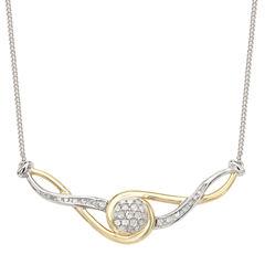 1/5 CT. T.W. White Diamond Statement Necklace