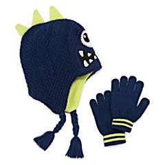 One Eyed Monster Hat & Gloves Set - Preschool Boys