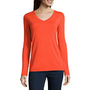 Stylus™ Long-Sleeve V-Neck T-Shirt