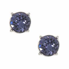Gloria Vanderbilt Purple Stud Earrings