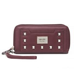 Nicole By Nicole Miller Cassie Double Zip Zip Around Wallet